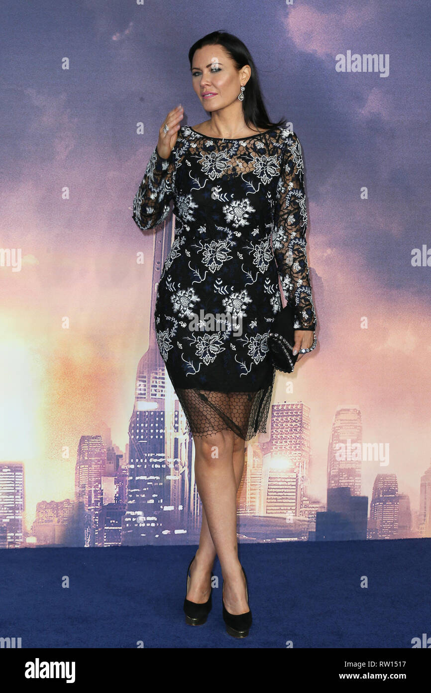 World Premiere of 'Alita: Battle Angel' held at the Odeon Leicester Square  Featuring: Linzi Stoppard Where: London, United Kingdom When: 31 Jan 2019 Credit: Mario Mitsis/WENN.com - Stock Image