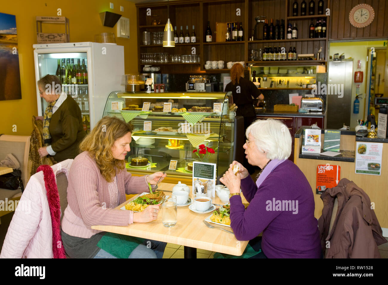 Cafe, restaurant, shop, Chale Stores and Deli, Chale, Isle of Wight, England, UK - Stock Image