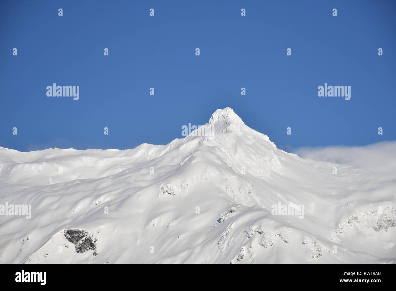 Felbertauern, Winter, Schnee, Eis, Straße, Schneefahrbahn, Felbertauernstraße, Pass, Matrei, Osttirol, Schneeverwehung, Wind, Wald, Schutzwald, Eis, Stock Photo