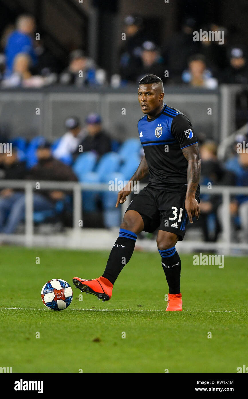 9e262ccfe20 San Jose Earthquakes defender Harold Cummings (31) in action during the MLS  game between the Montreal Impact and the San Jose Earthquakes at Avaya  Stadium ...