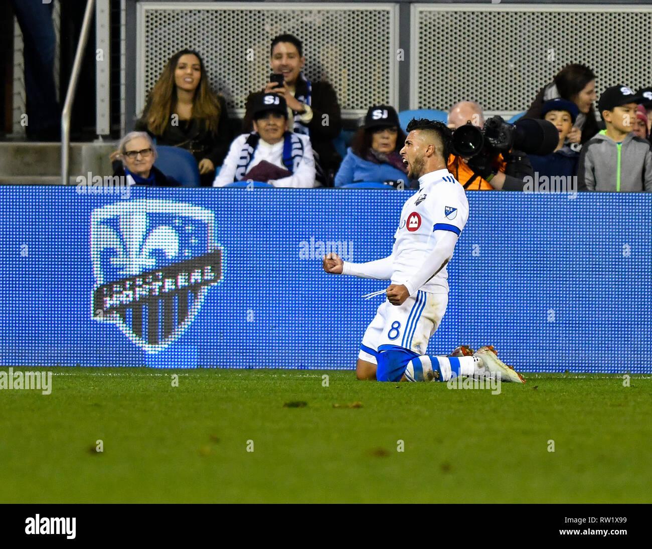 San Jose, California, USA  2nd Mar, 2019  Montreal Impact