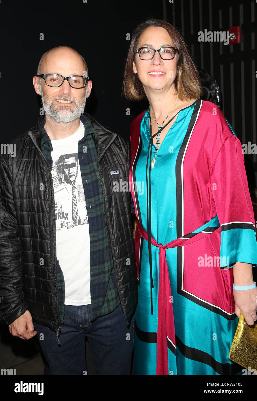 CULVER CITY, CA - MARCH 3: Moby, California State Assembly members Laura Friedman, at The Compassion Project's 2nd Annual Fundraising Gala_Inside at Playa Studio in Culver City, California on March 3, 2019. Credit: Faye Sadou/MediaPunch - Stock Image