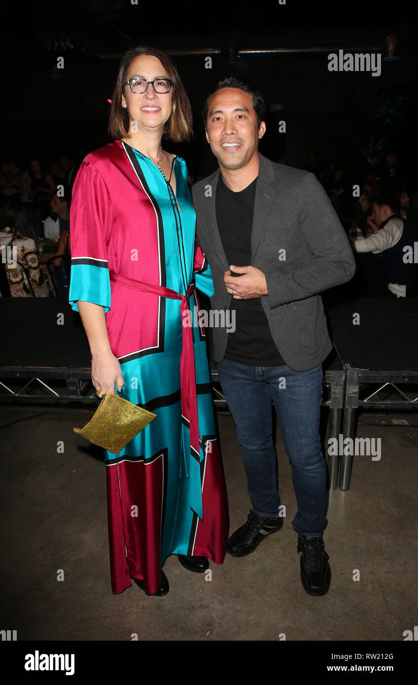 CULVER CITY, CA - MARCH 3: California State Assembly members Laura Friedman, Marc Ching, at The Compassion Project's 2nd Annual Fundraising Gala_Inside at Playa Studio in Culver City, California on March 3, 2019. Credit: Faye Sadou/MediaPunch - Stock Image
