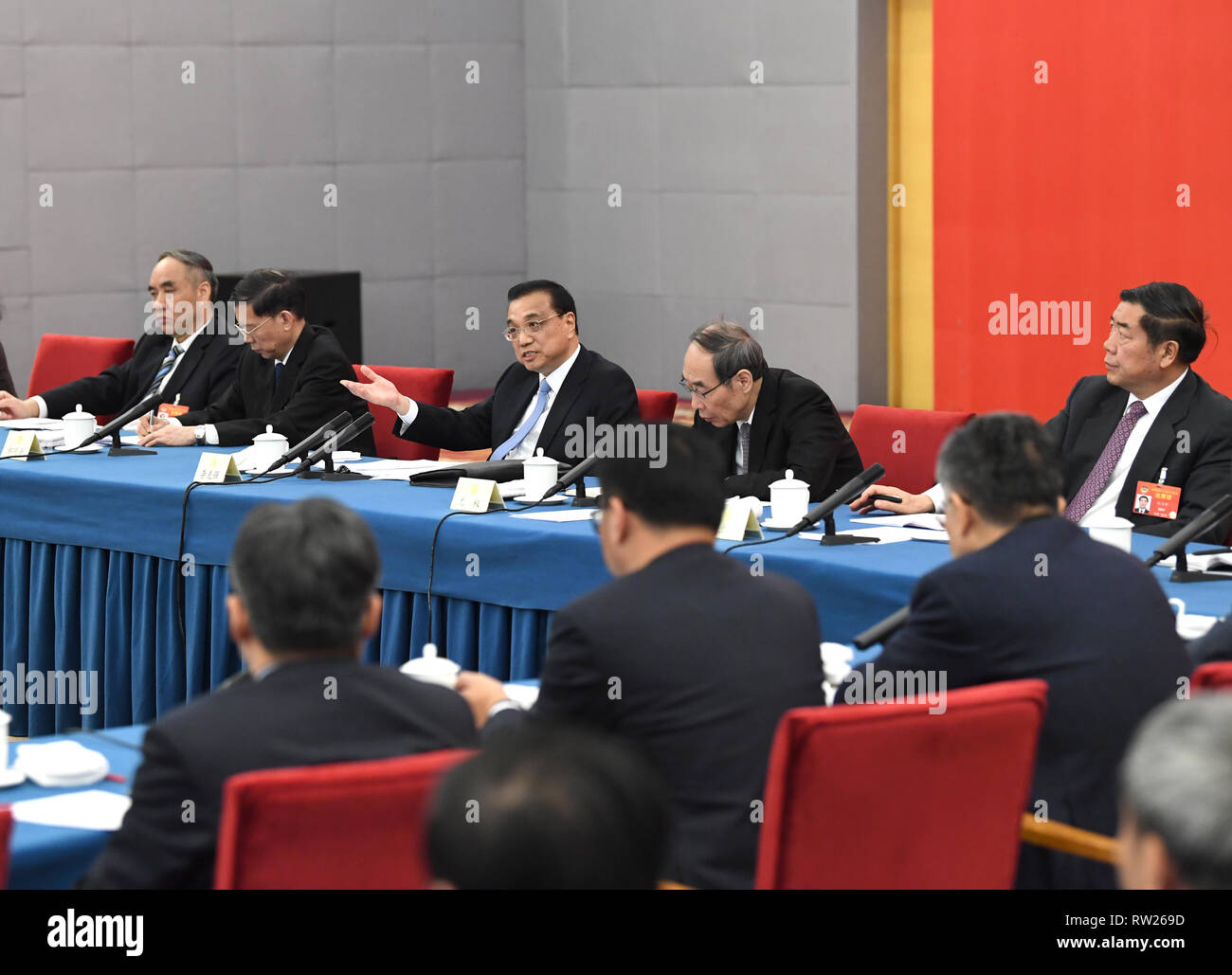 Beijing, China. 4th Mar, 2019. Chinese Premier Li Keqiang, also a ...