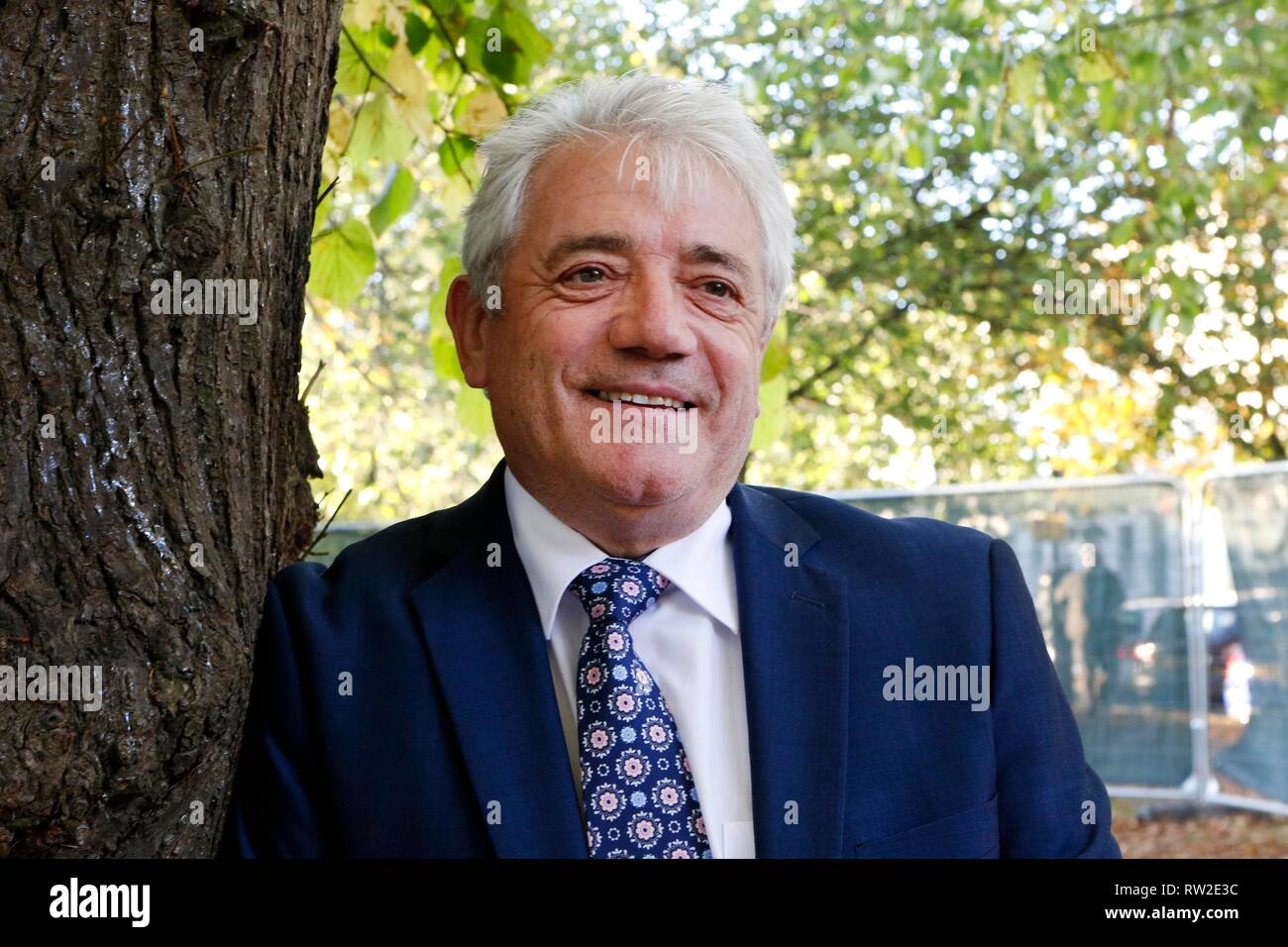 Kevin Keegan, at Cheltenham Literature Festival on Tuesday, to talk about his new book. 9 October 2018 Picture by Andrew Higgins - Thousand Word Media - Stock Image