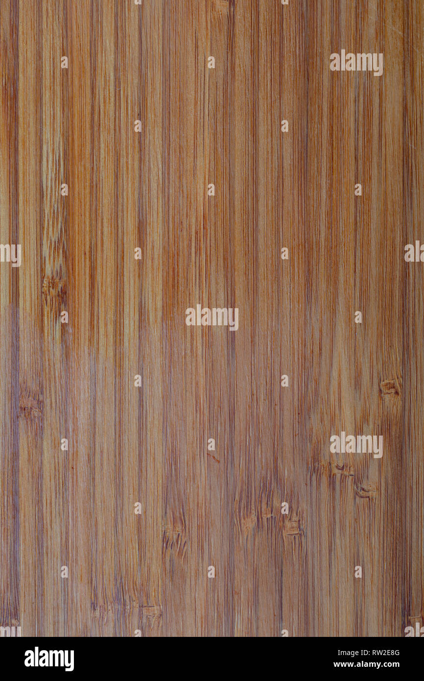 Rustic bamboo texture. Vertical lines. Ocher and brown tones. - Stock Image