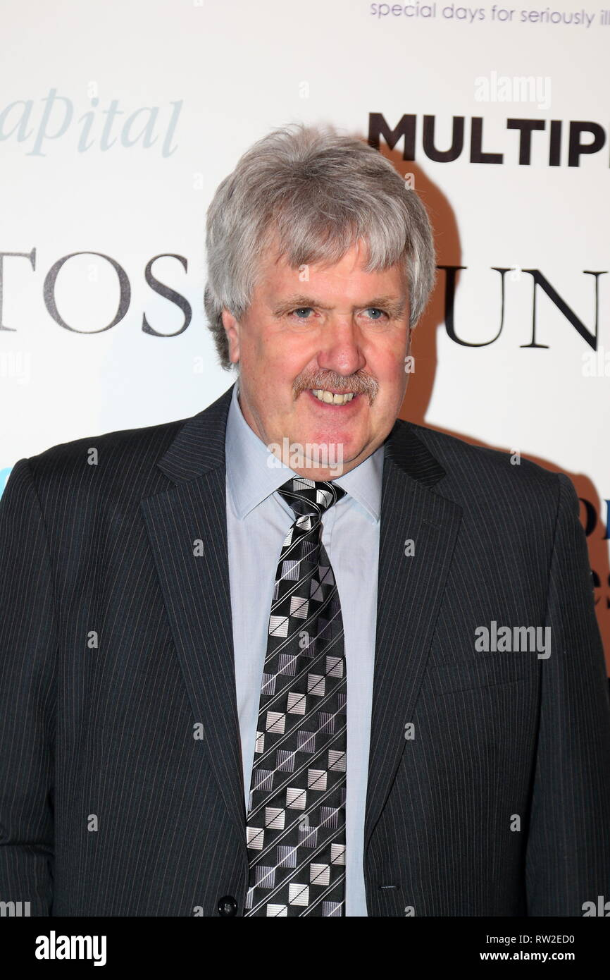 Former Footballer Phil Parkes at the London Football Awards 2019 held in the Battersea Evolution, London, UK - Stock Image