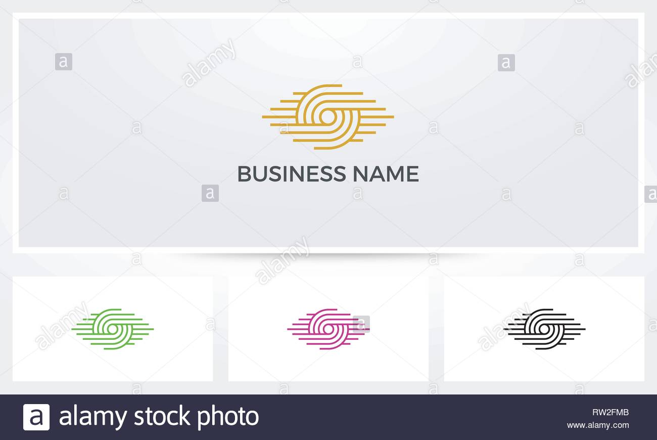 Eye Parallel Lines Logo - Stock Image