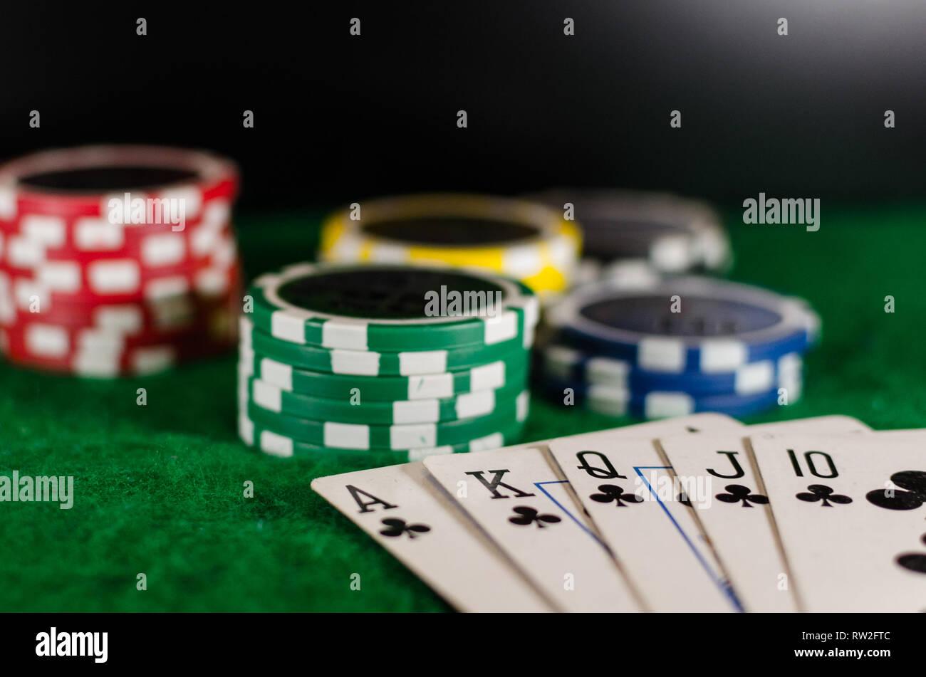 Casino still life - Stock Image