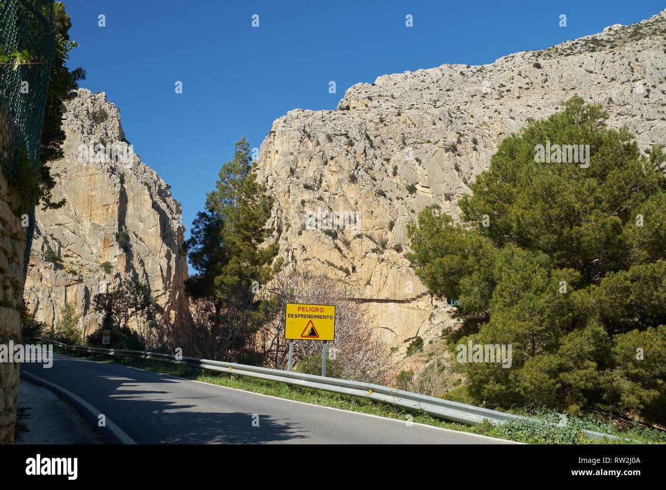 El Chorro. Málaga, Spain. Stock Photo