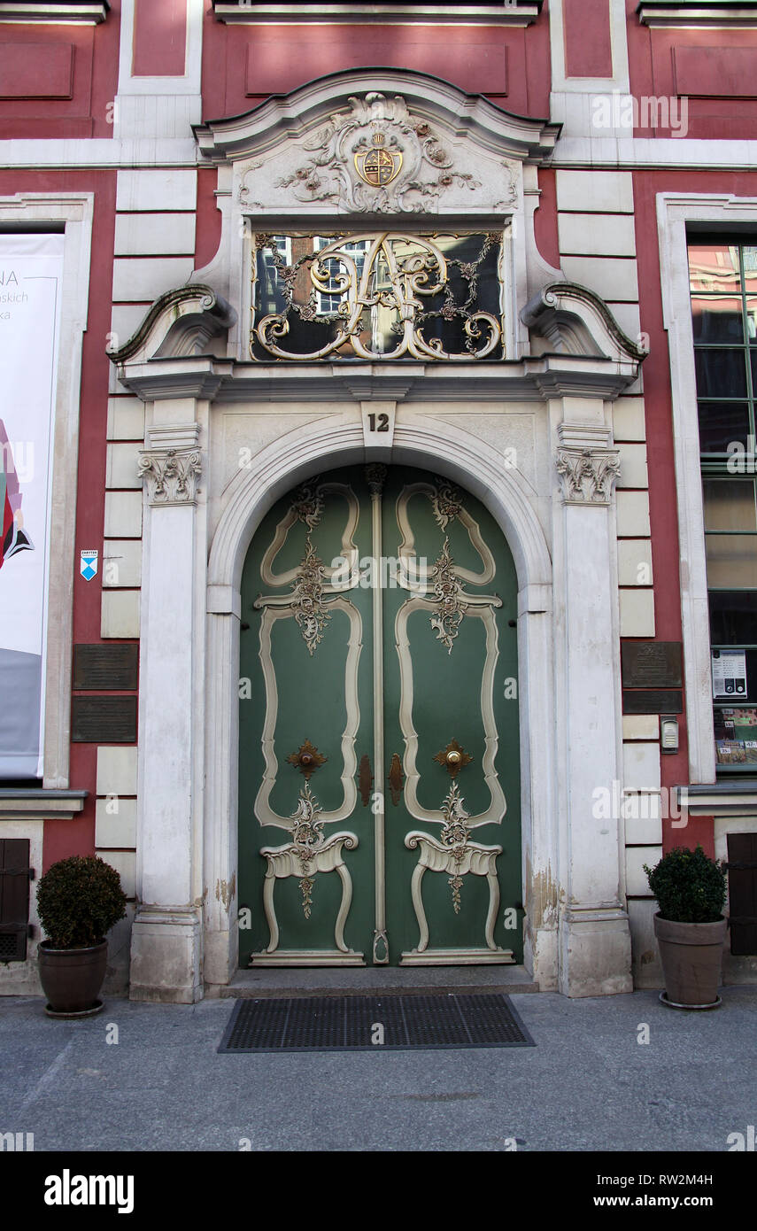 Former home of Johann Uphagen which is now a museum in Gdansk - Stock Image
