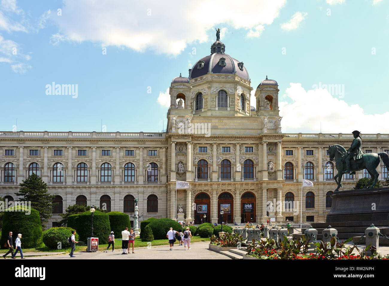 Museum of Art History on the Maria-Theresien-Platz in Vienna - Austria. Stock Photo