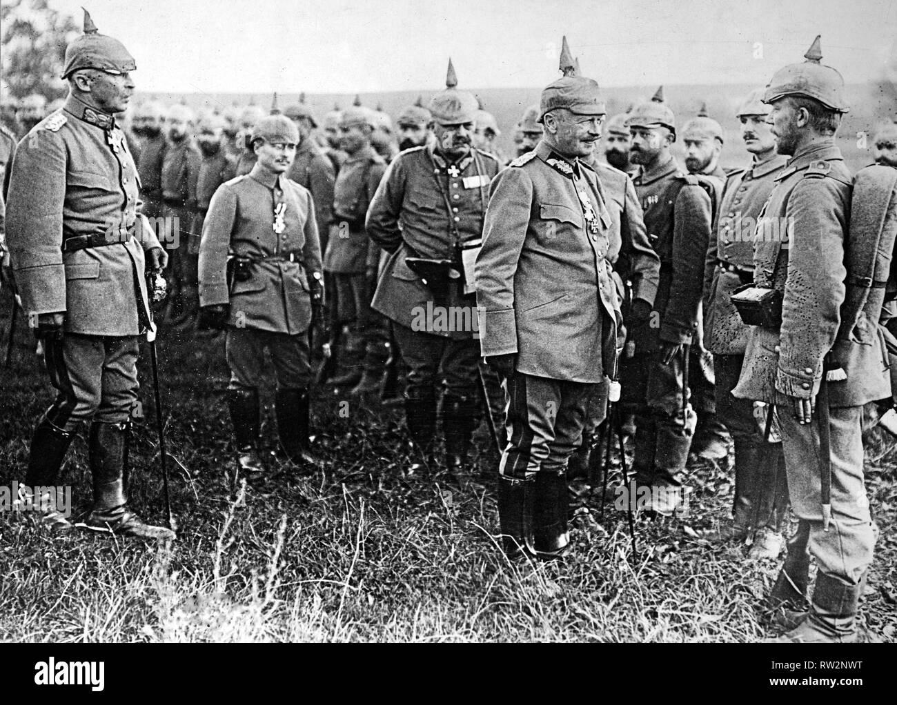 Photo 1918-9 WW1 Black Soldiers Given /'Croix de Guerre/' For Bravery