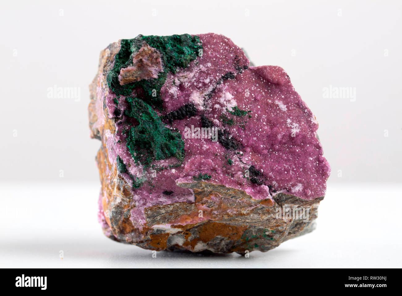 mineral specimen gem geology quartz - Stock Image