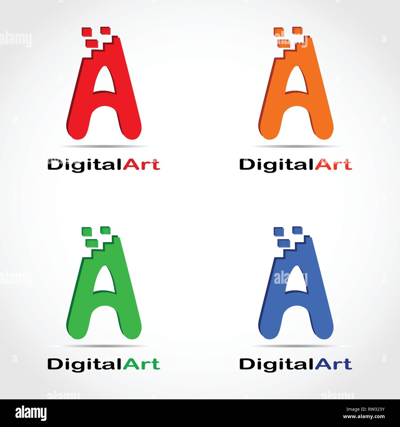This logo is in the form of an initial logo letter A. This logo is suitable for use by a company that works in the field of creative industries. - Stock Vector