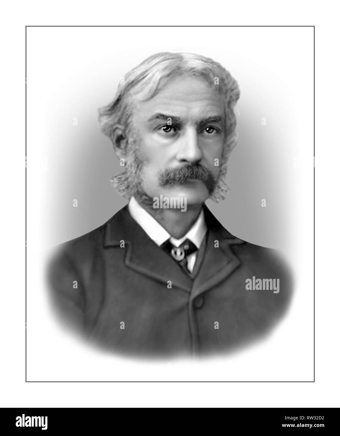 Andrew Lang 1844-1912 Scottish Poet Novelist Literary Critic - Stock Image