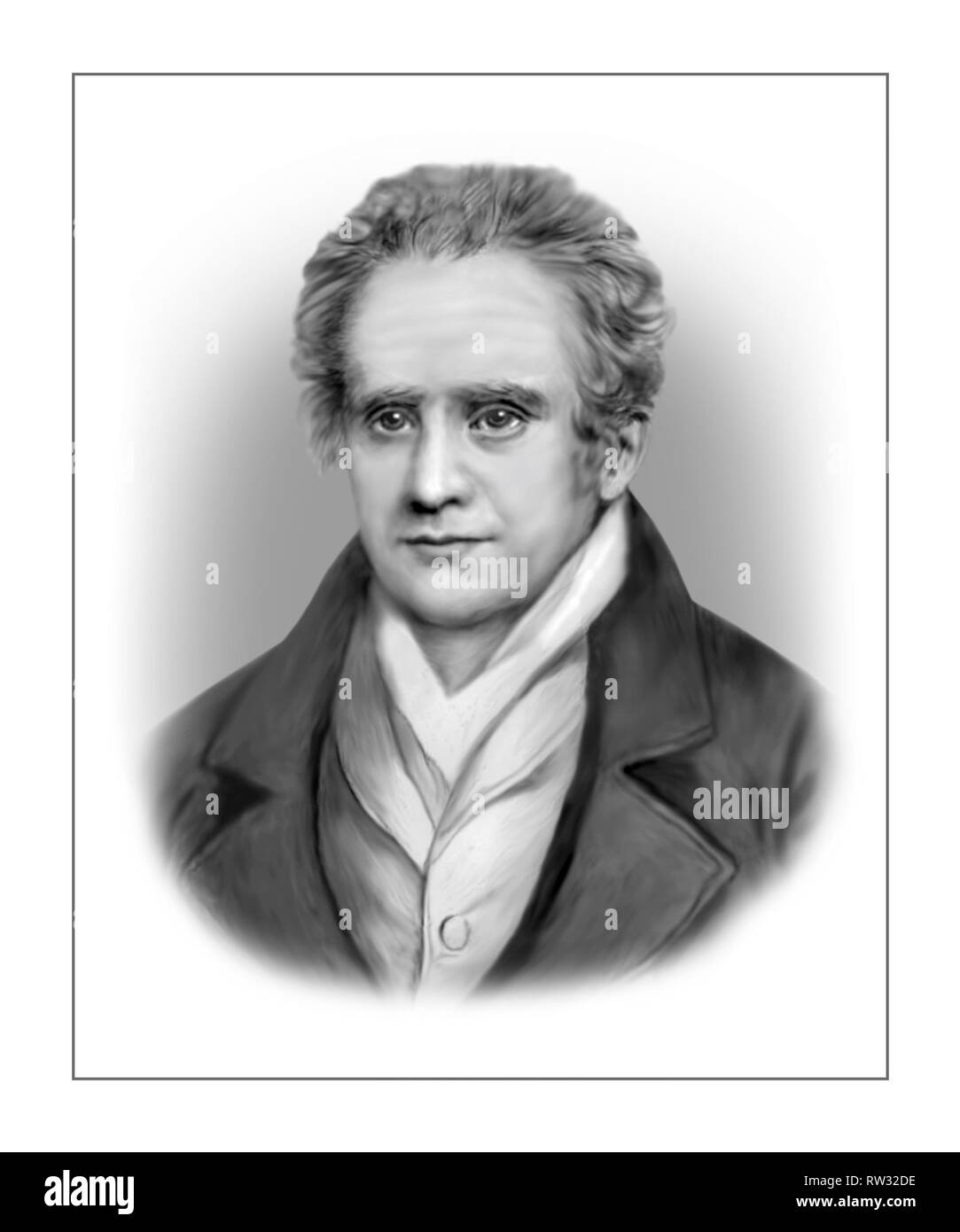 Gaspard Monge 1746-1818 French Mathematician - Stock Image