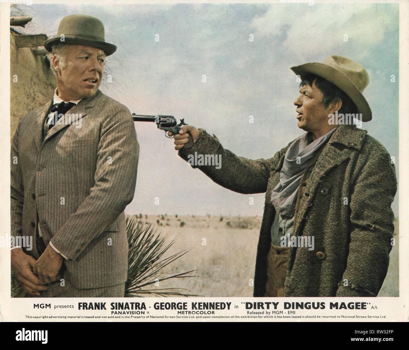 DIRTY DINGUS MAGREE (1970)  GEORGE KENNEDY  FRANK SINATRA   BURT KENNEDY (DIR)  MOVIESTORE COLLECTION LTD - Stock Image