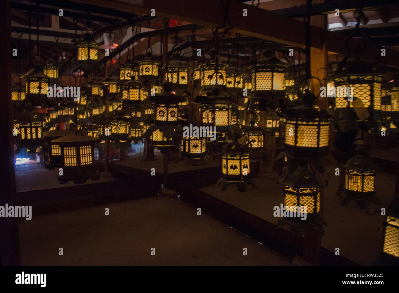 Asia, Japan, Kansai Region, Nara, Kasugataisha temple - Stock Image