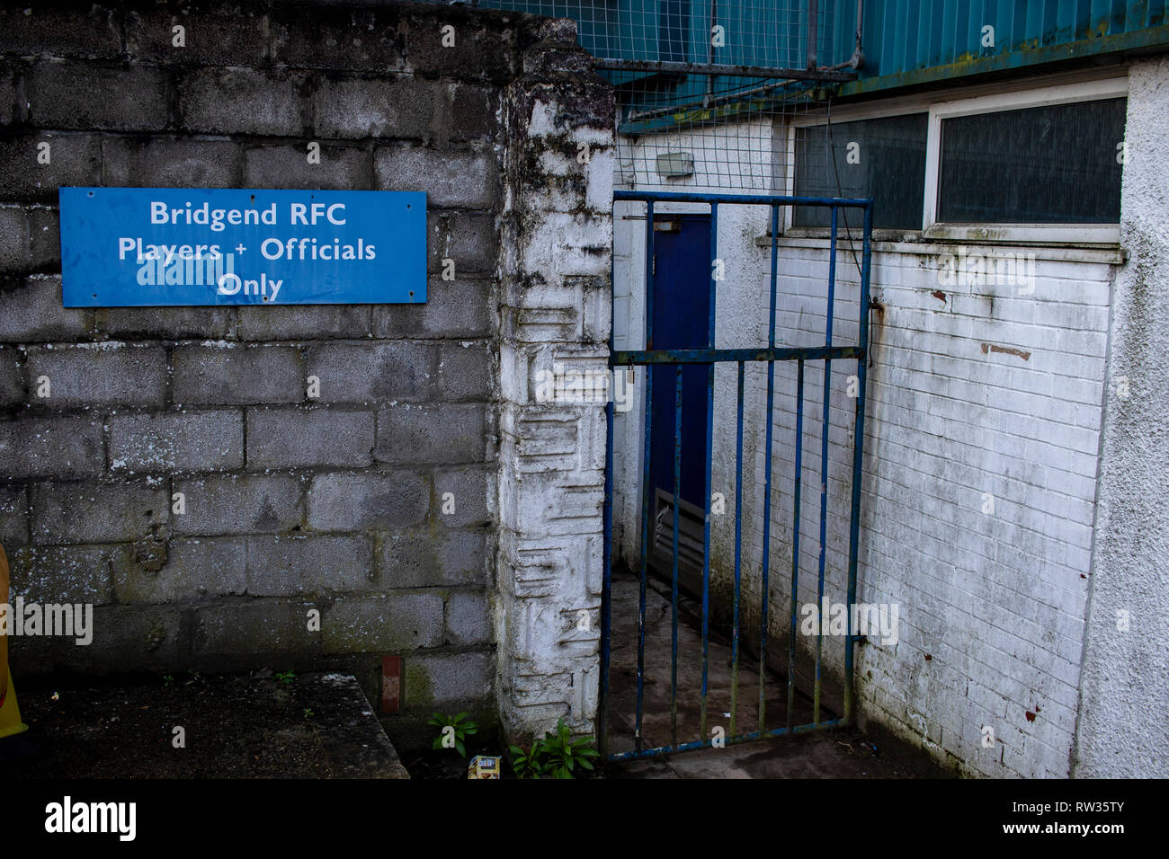 General View of the Brewery Field, home to Bridgend Ravens RFC. - Stock Image
