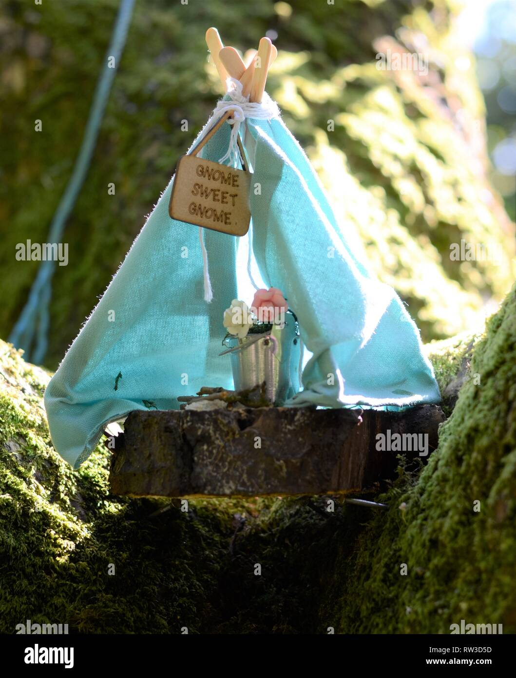 Fairy house Gnome sweet gnome - Stock Image & Fairy Tent Stock Photos u0026 Fairy Tent Stock Images - Alamy