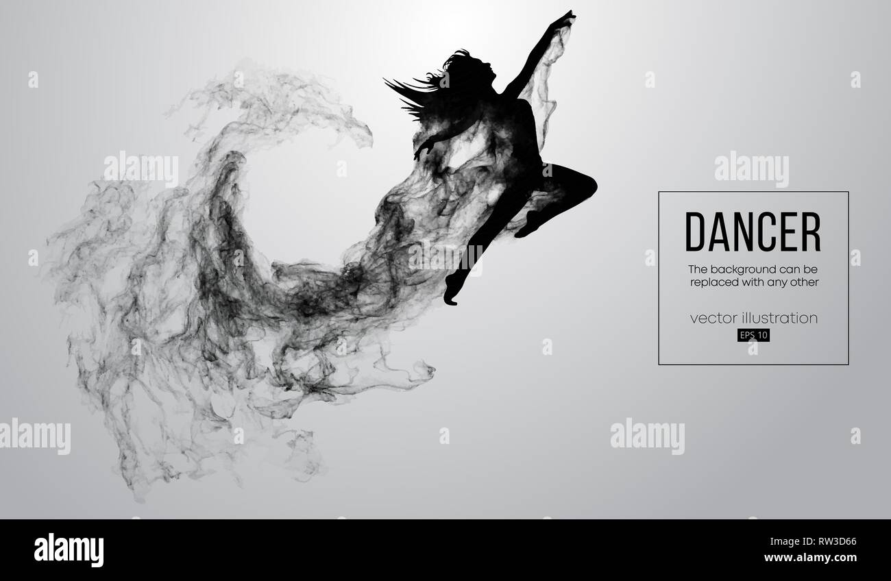 Silhouette Dance Music Abstract Background: Dancing Silhouette White Background Stock Photos & Dancing