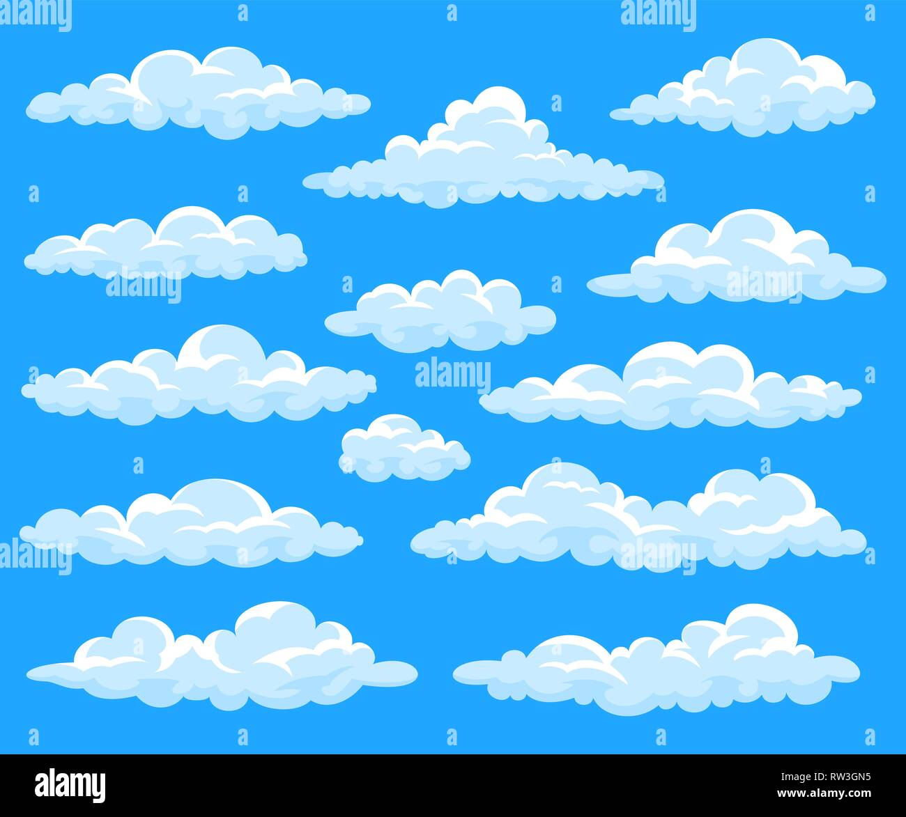 Set Of Cartoon Clouds Stock Vector Image Art Alamy Pikbest has 13272 cartoon cloud design images templates for free. https www alamy com set of cartoon clouds image239180177 html
