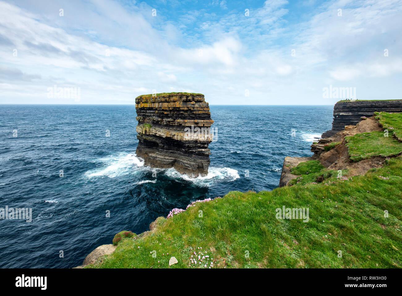 Downpatrick Head, Co. Mayo - Stock Image