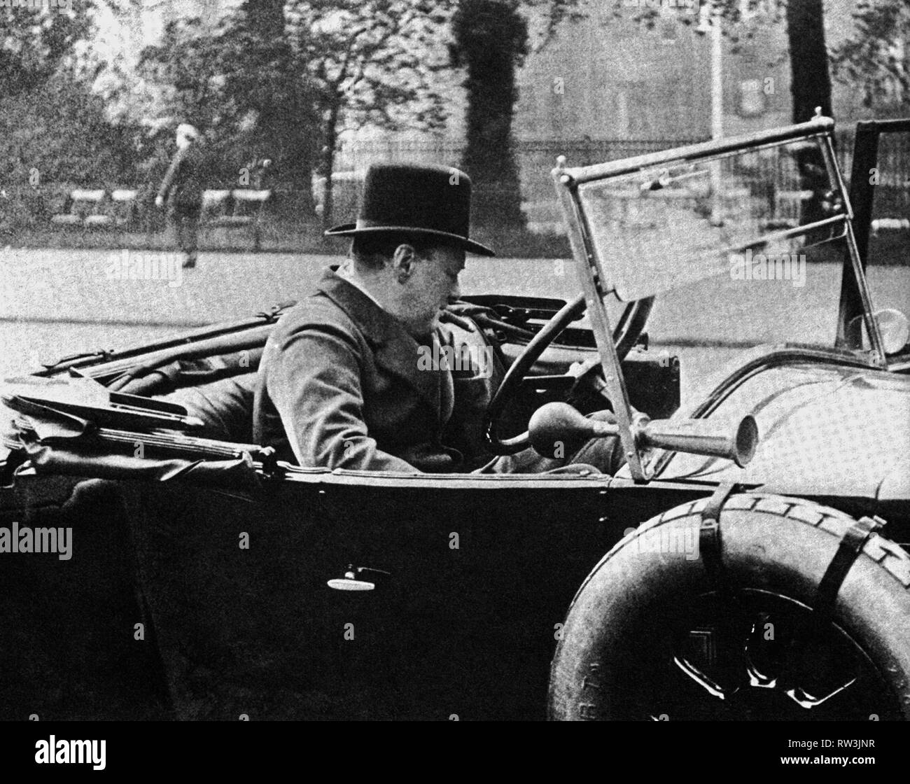 Winston Churchill as Chancellor of the Exchequer. 1925. - Stock Image