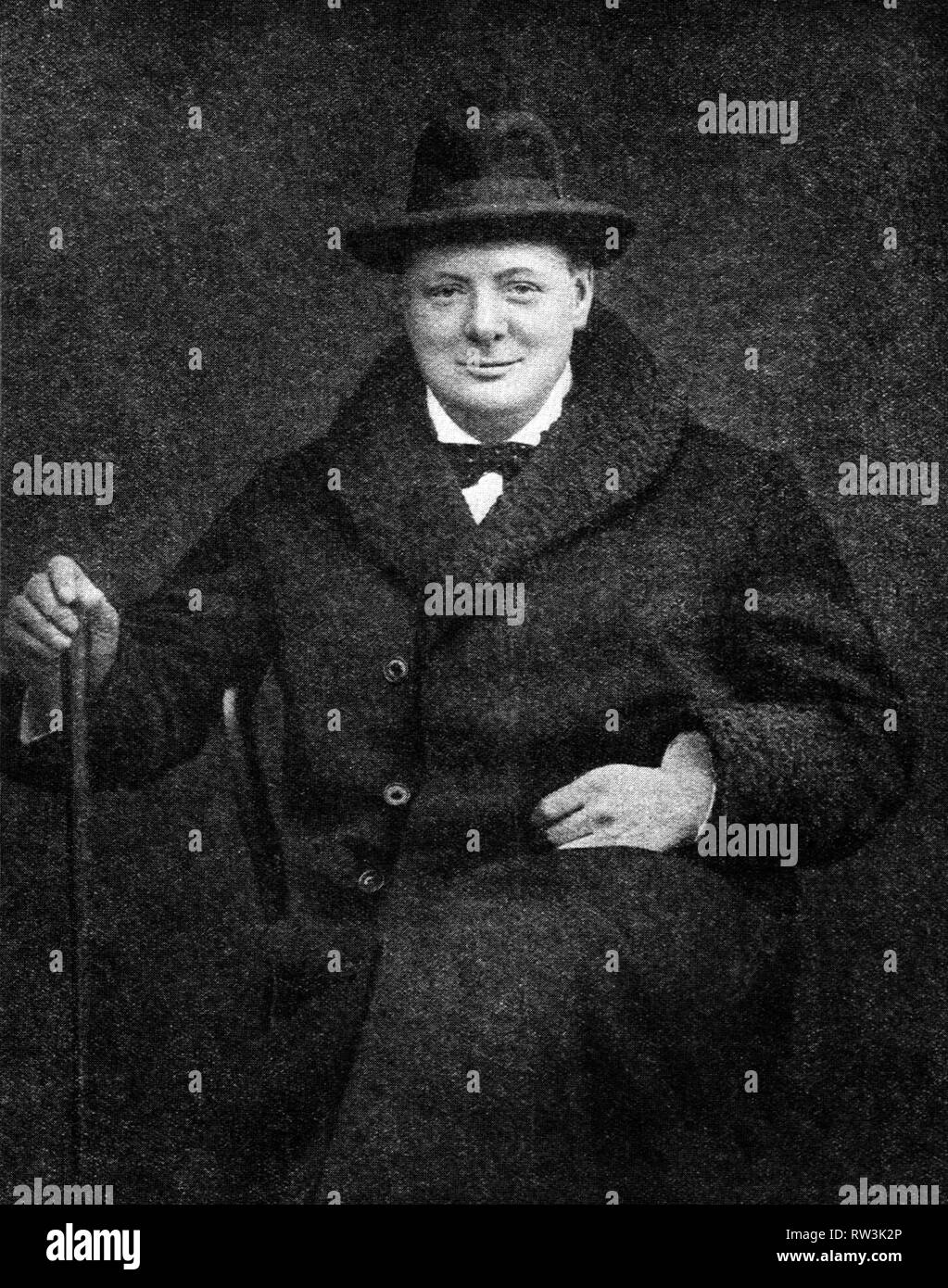 Winston Churchill as Chancellor of the Exchequer. - Stock Image