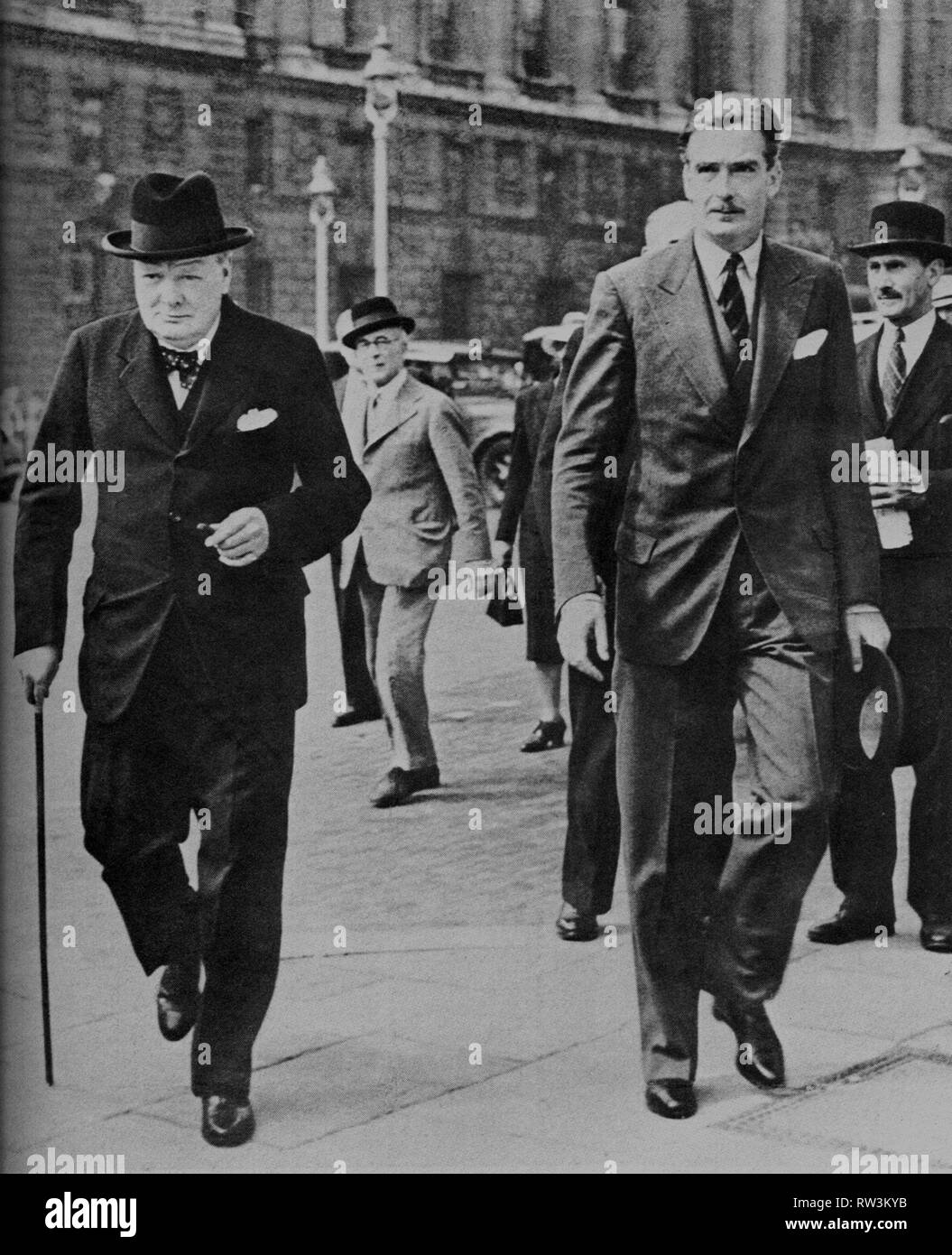 a6d382bea870e Winston Churchill and Anthony Eden in Whitehall on their way to the House of  Commons. 29th August 1939