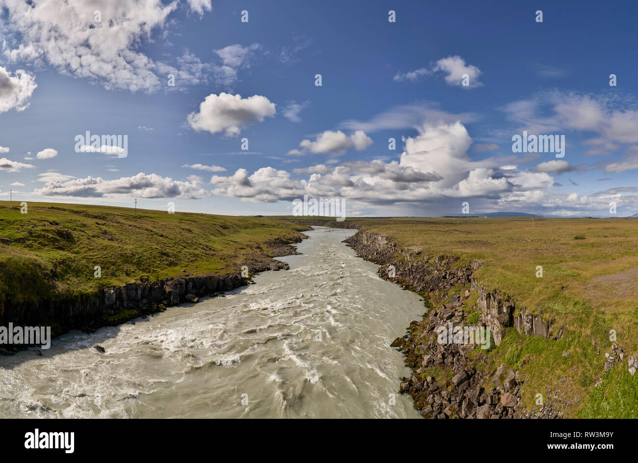Thjorsa river, South Coast, Iceland - Stock Image