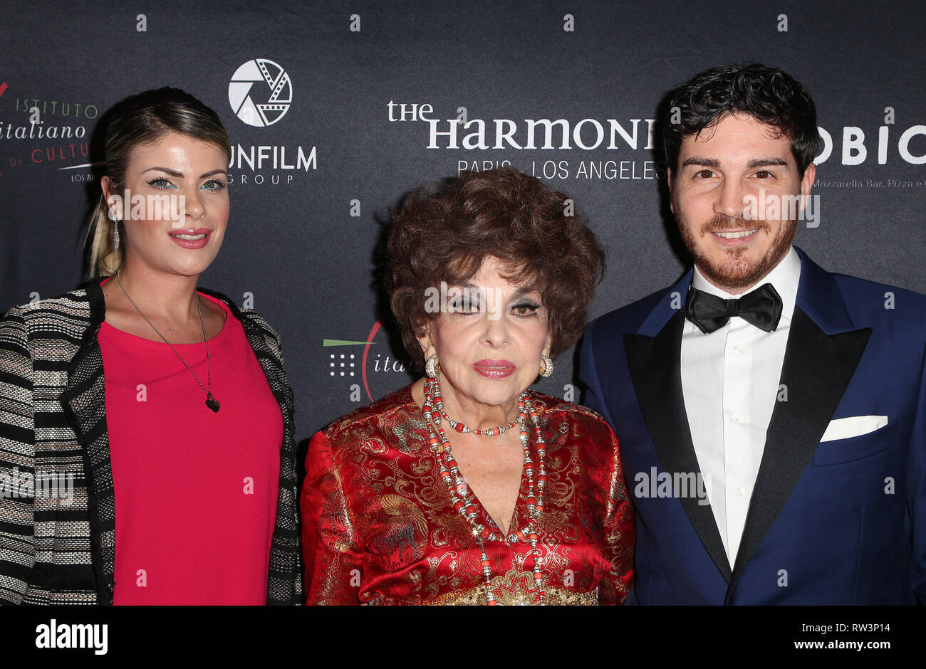 Filming Italy' - Day 3 Featuring: Gina Lollobrigida, Andrea Piazzolla  Where: Los Angeles, California, United States When: 31 Jan 2019 Credit:  FayesVision/WENN.com Stock Photo - Alamy