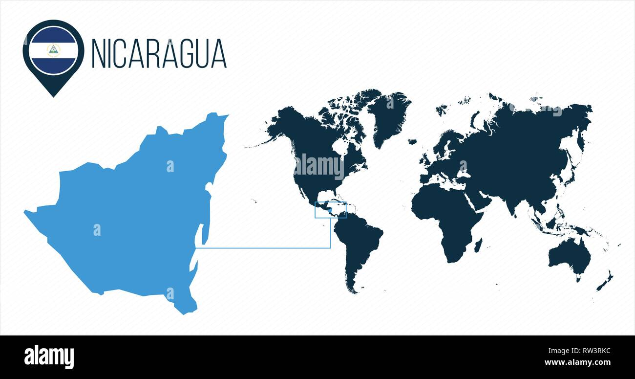 Where Is Nicaragua Located On A World Map.Nicaragua Map Stock Photos Nicaragua Map Stock Images Alamy
