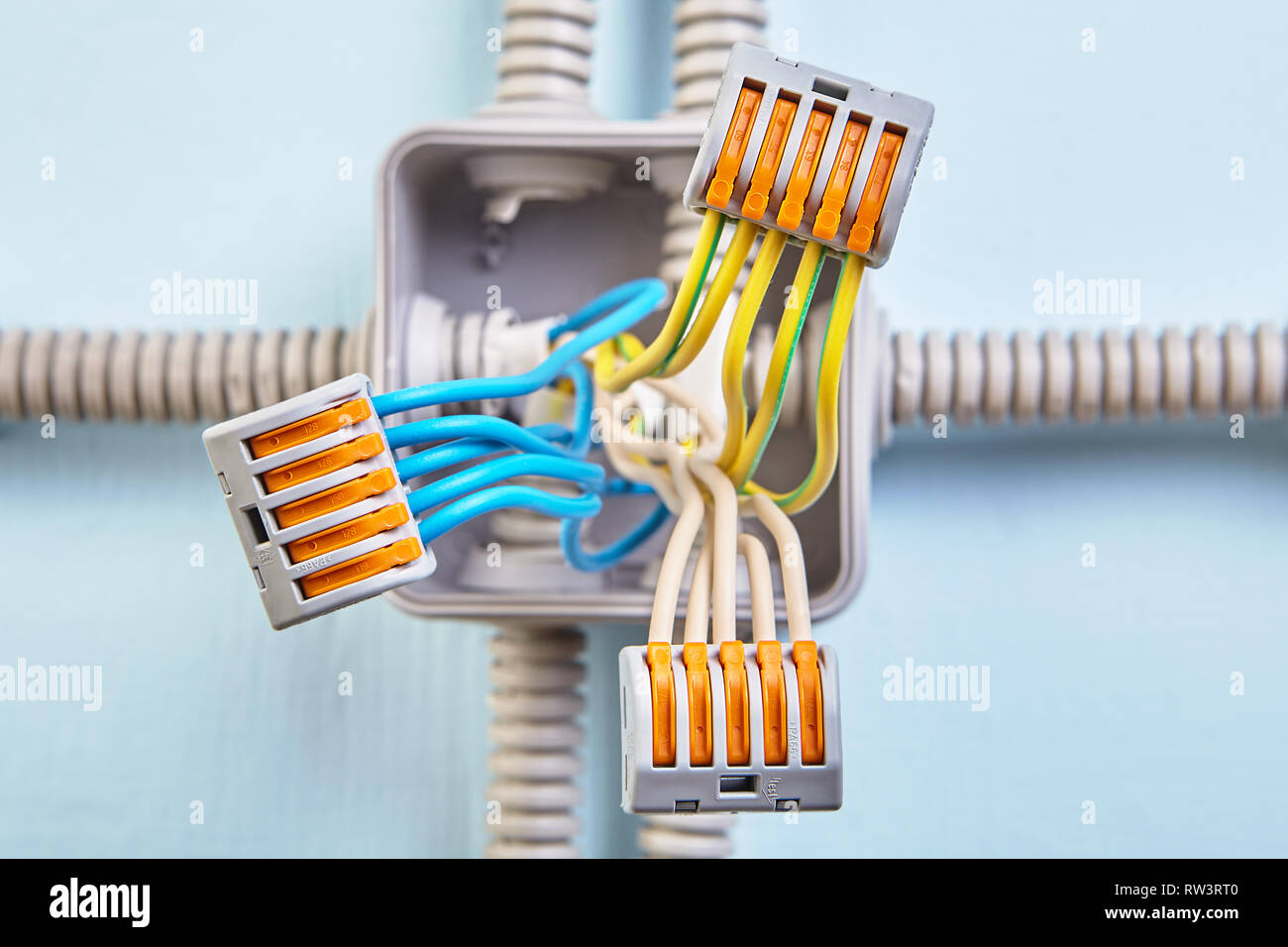 Home junction box wiring with wires connected with help of ... on battery junction block, power junction block, painless junction block, sensor junction block, concrete junction block, 4 post junction block, cable junction block,