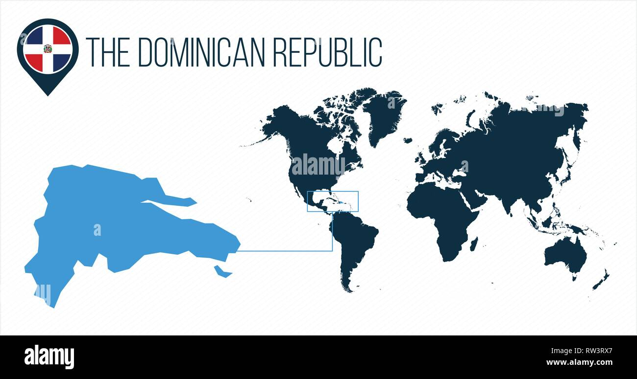 Map Of The Dominican Republic Stock Vector Images - Alamy