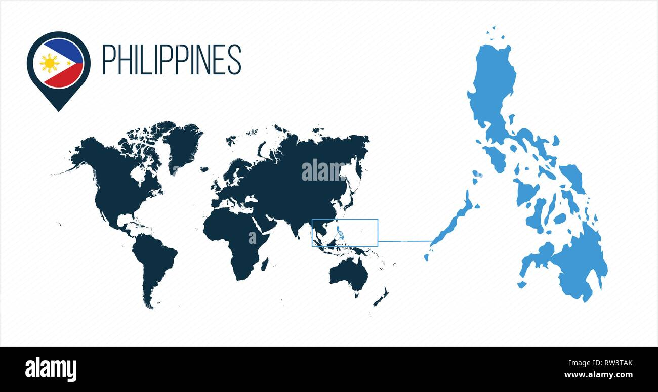 Philippines Map Cut Out Stock Images Pictures Alamy