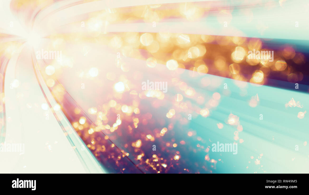 4k abstract background blur bokeh colors dust flakes - Stock Image