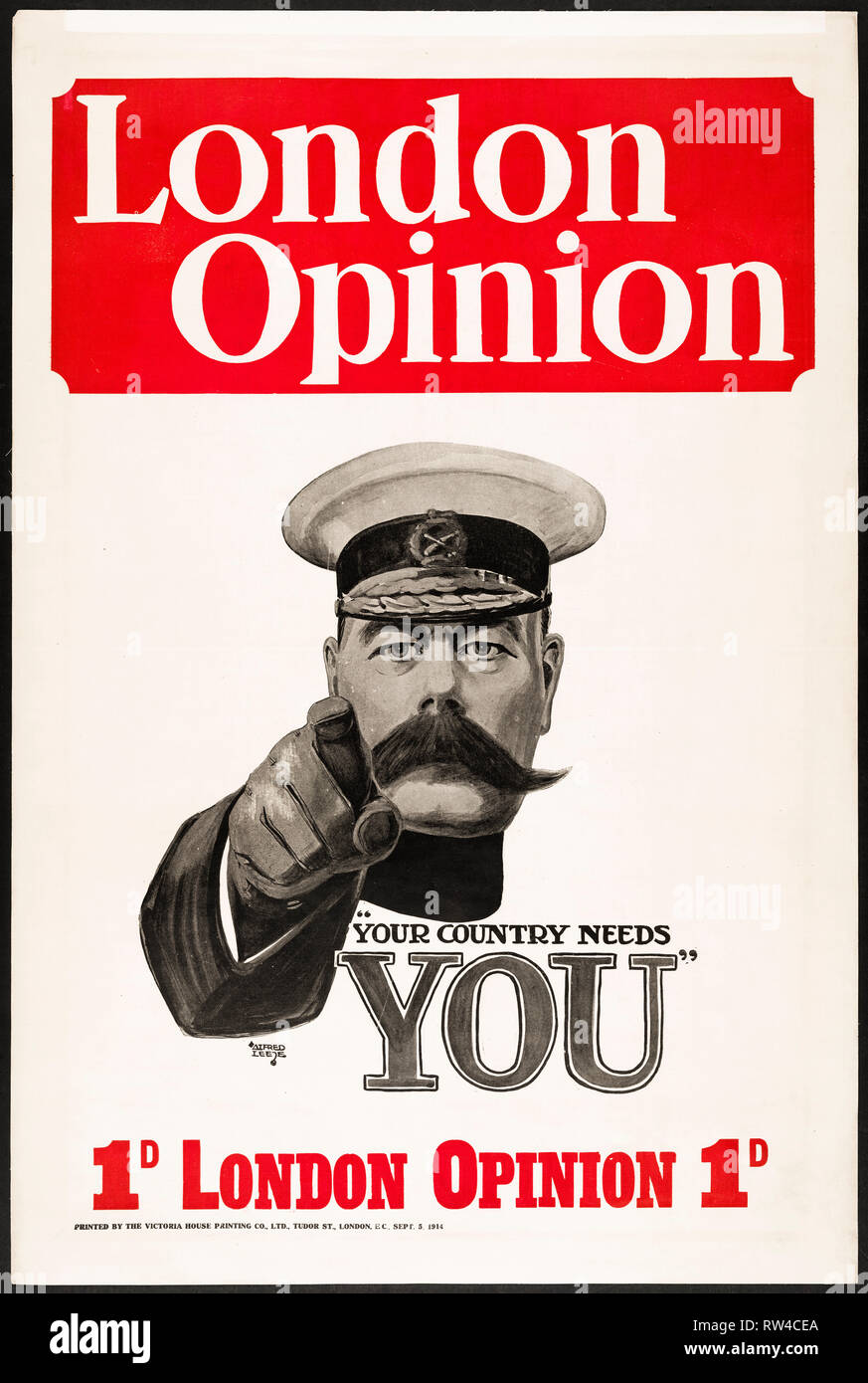 London Opinion 'Your country needs you' Cover, 5th September 1914 - Stock Image