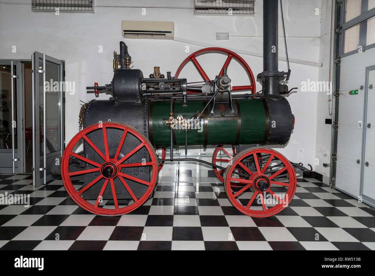 Belgrade, Serbia: Locomobile, movable steam engine used in