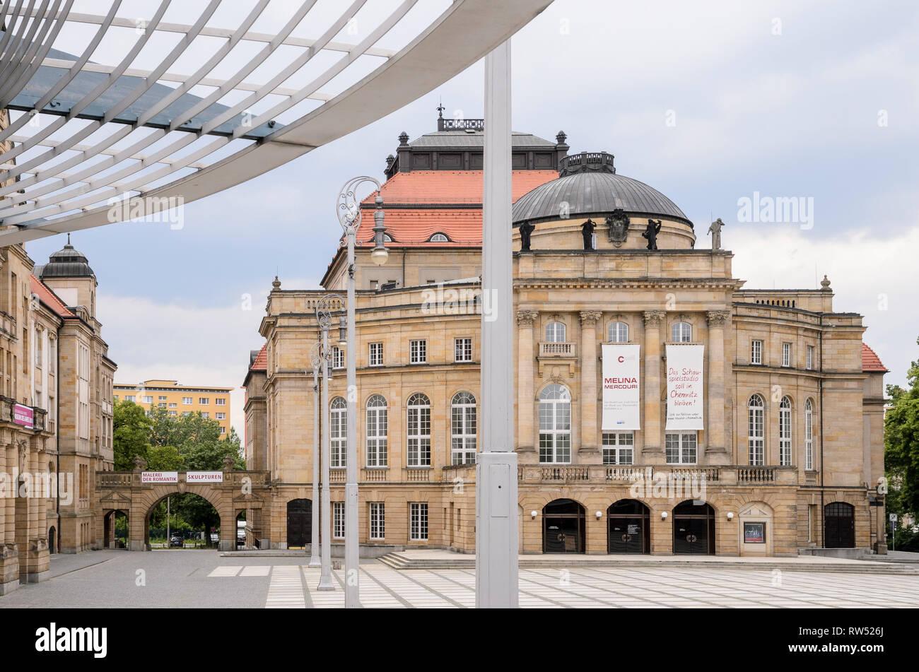 Theater, Chemnitz, Sachsen, Deutschland - Stock Image