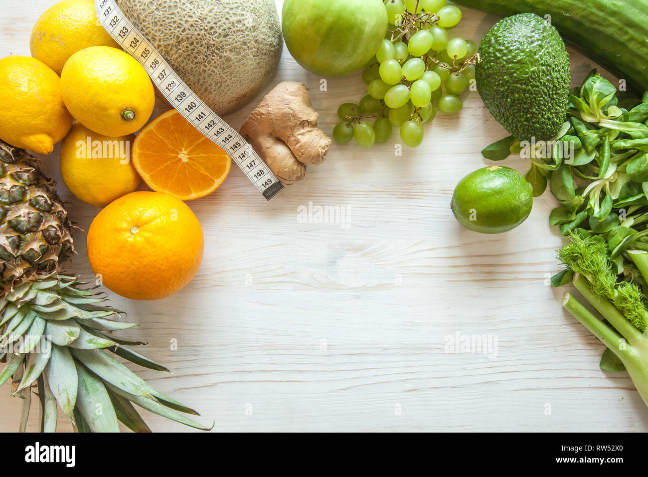 Astonishing Flat Lay Composition With Measuring Tape Healthy Vegetables Download Free Architecture Designs Scobabritishbridgeorg