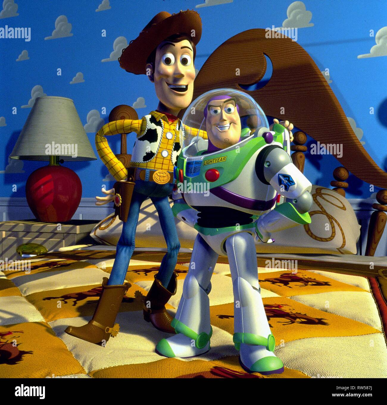 WOODY,LIGHTYEAR, TOY STORY, 1995 - Stock Image