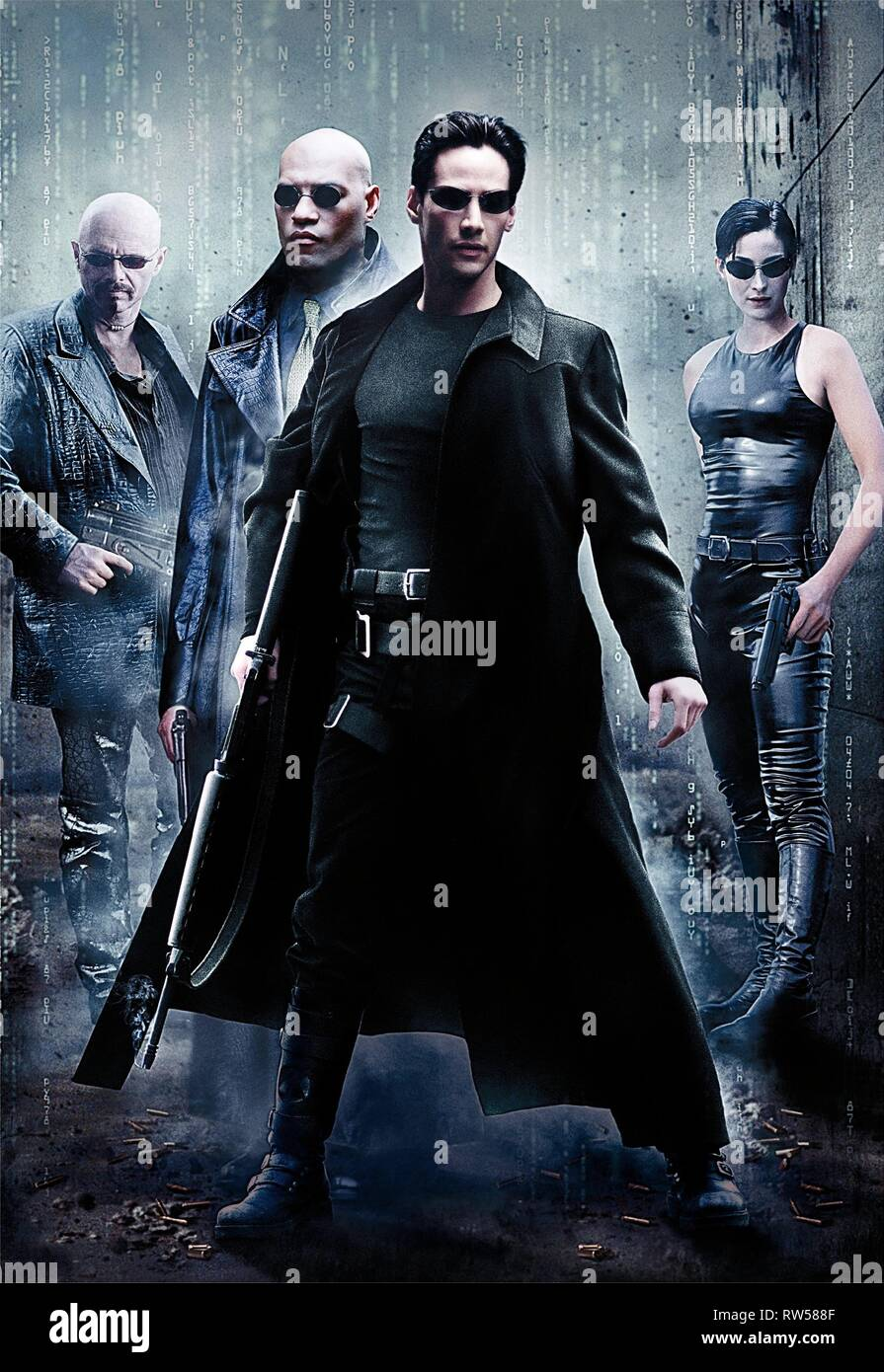 FISHBURNE,REEVES,MOSS, THE MATRIX, 1999 - Stock Image