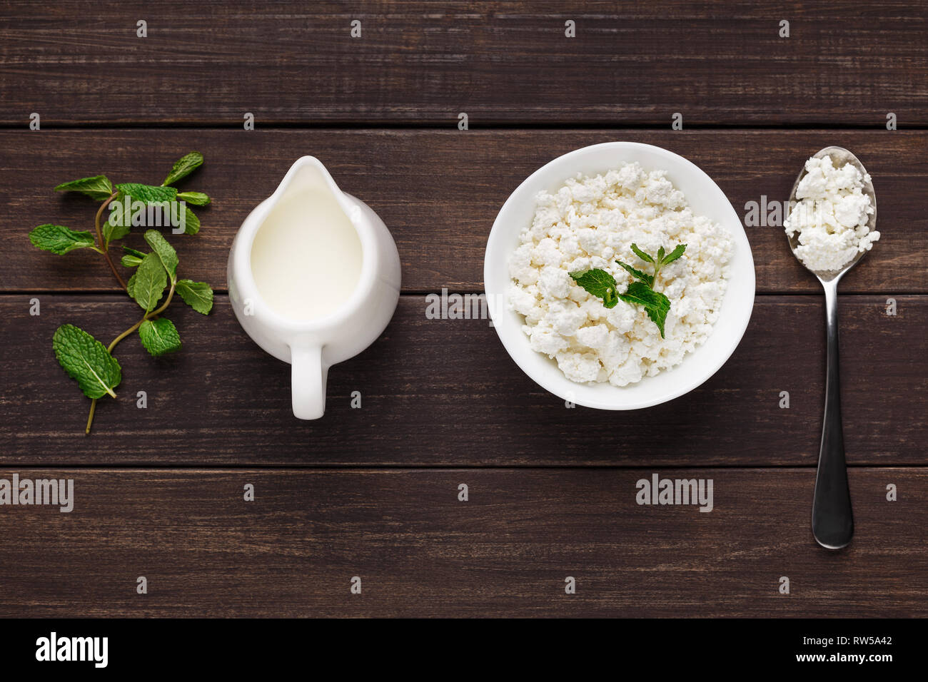 Lacto vegetarian eating concept - Stock Image