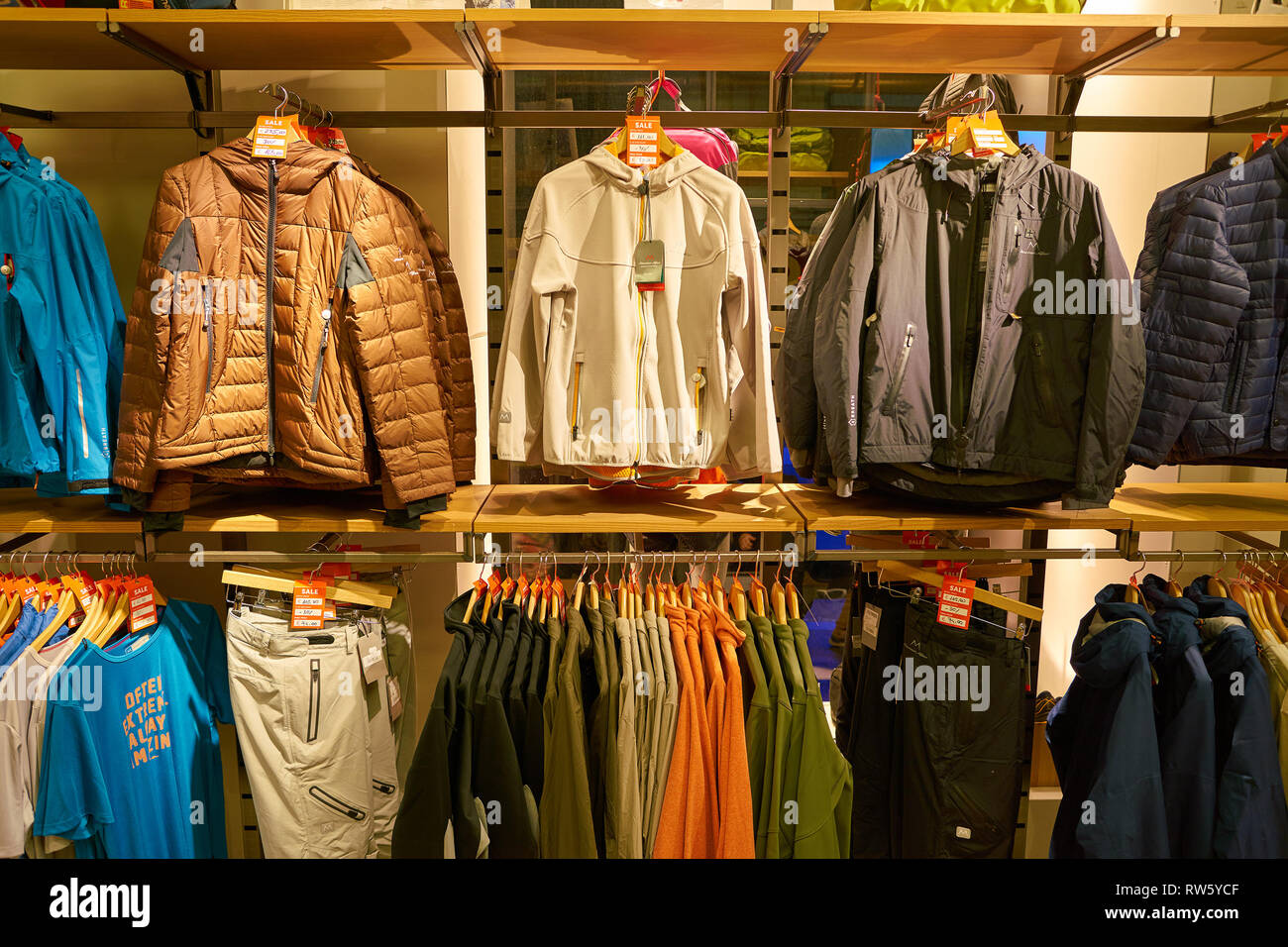 ROME, ITALY - CIRCA NOVEMBER, 2017: interior shot of a store in Rome. - Stock Image