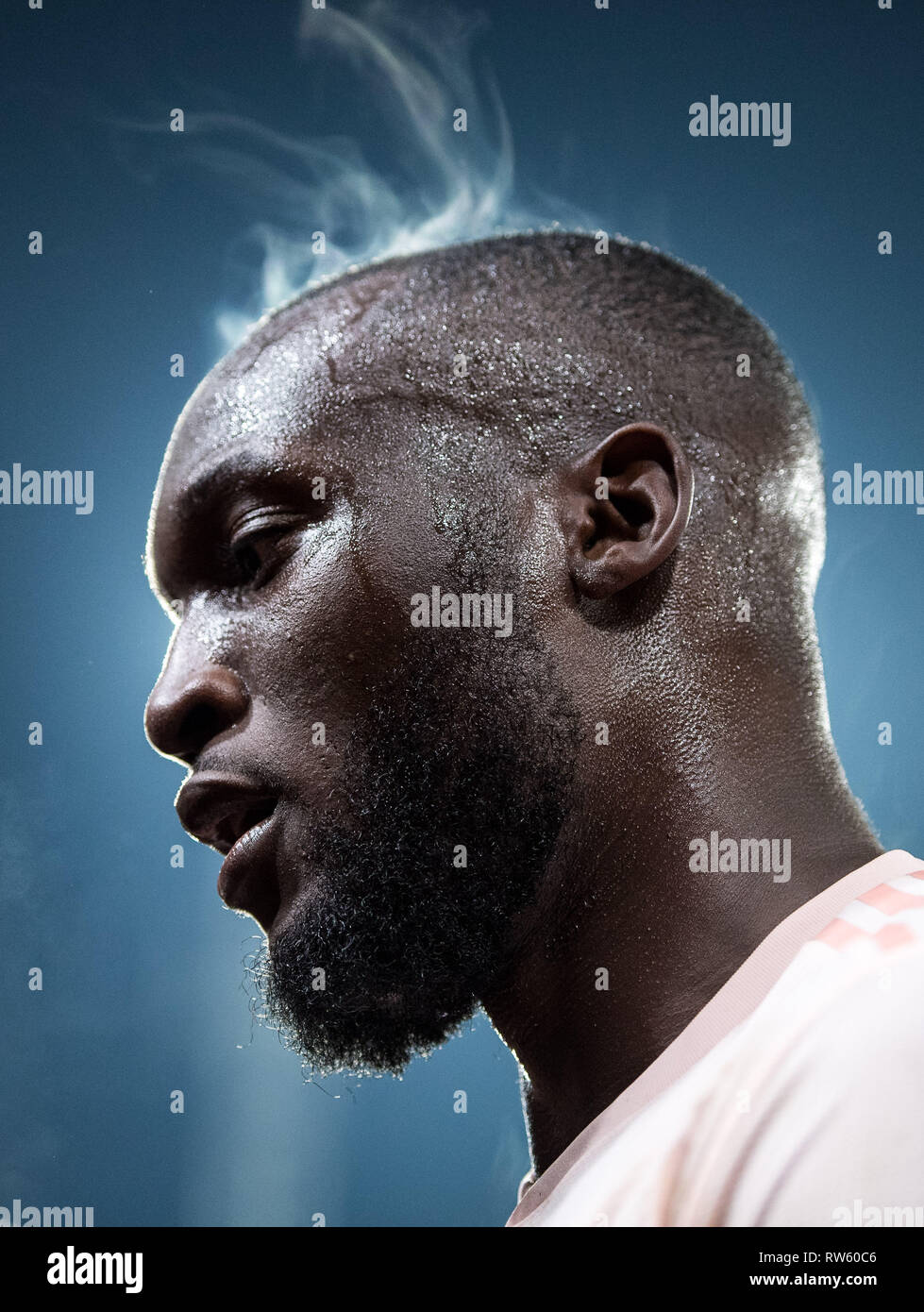 LONDON, ENGLAND - FEBRUARY 27: Romelu Lukaku of Manchester United looks on during the Premier League match between Crystal Palace and Manchester Unite - Stock Image