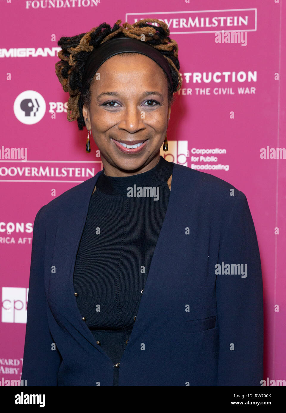 New York, NY - March 4, 2019: Kimberly Crenshaw attends the Reconstruction: America After The Civil War premiere at New York Historical Society - Stock Image