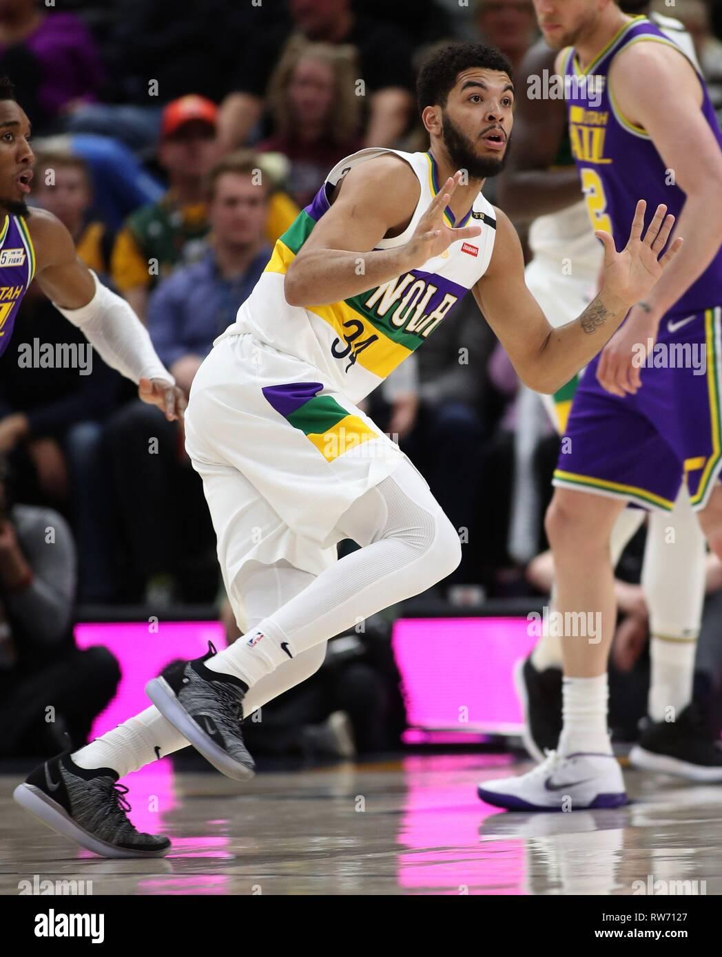 san francisco 1b79c 9b31e Salt Lake City, USA. 4th Mar, 2019. New Orleans Pelicans ...