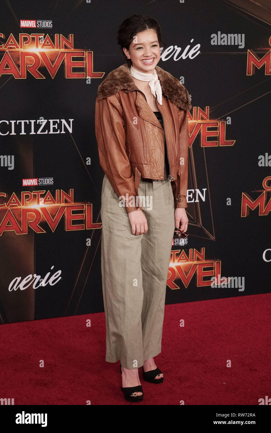 Los Angeles, USA. 04th Mar, 2019. Peyton Elizabeth Lee 074 attends the Marvel Studios 'Captain Marvel' premiere on March 04, 2019 in Hollywood, California. Credit: Tsuni/USA/Alamy Live News - Stock Image
